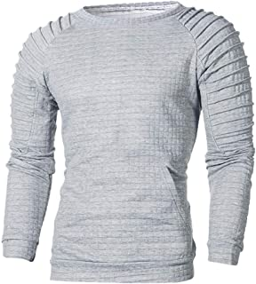 YOcheerful Plus Size Men Hoodie Hoody Sweatshirt Christmas Long Sleeve Pullover Winter Top