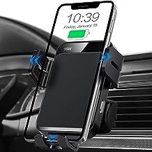 شارژر اتومبیل بی سیم ، MOKPR 15W / 10W / 7.5W شارژر سریع شارژر اتوماتیک بست شارژر اتومبیل دارنده نگهدارنده تلفن تلفن سازگار با iPhone 12 Pro Max / 12 pro / 12/11 Series ، Samsung Galaxy Series و غیره