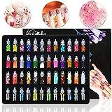 Magicdo Glitter per unghie, Decorazione unghie in 3D con Mini Bottles, Set Art Glitter, Po...