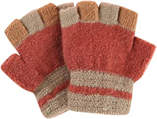 Five-Finger Gloves(4-8 Years Old), Winter Warm Mittens for Boys and Girls, D02