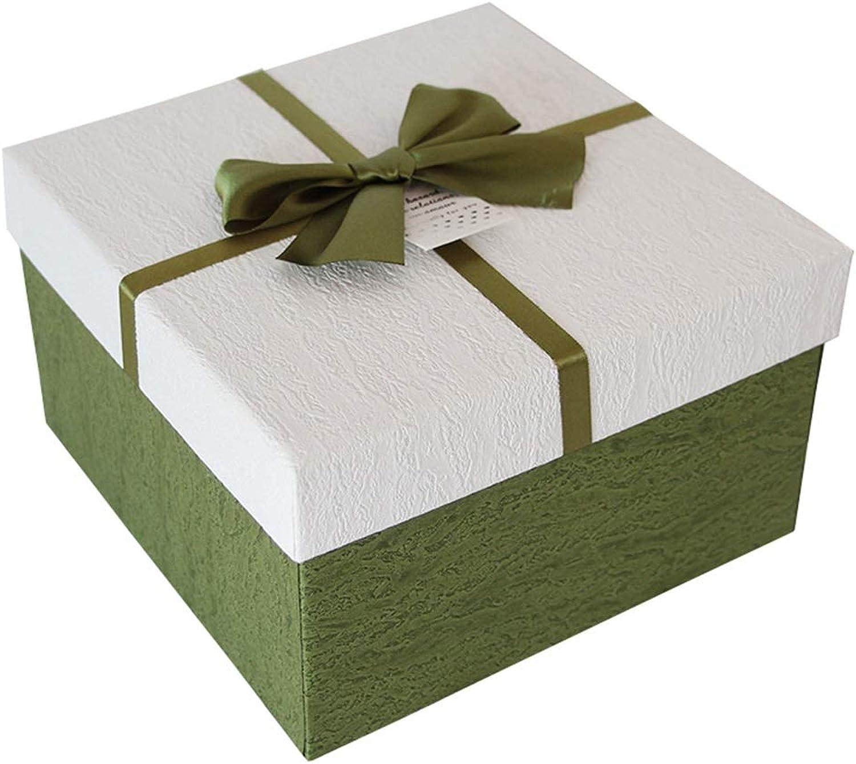 Einfache Volltonfarbe Volltonfarbe Volltonfarbe Geschenkbox Platz Urlaub Geburtstagsparty Souvenir Verpackung Box (größe   L(26×26×14cm)) B07HL4Z1J4 | Niedriger Preis und gute Qualität  77e910