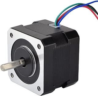 STEPPERONLINE 17HS13-0404S1 Stepper Motor for 3D Printer DIY CNC Robot, -10-50 Degree C, 0.4 Amp, Black