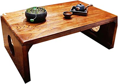 Home Low Table Small Table Indoor Study Table Coffee Table Living Room Bay Window Small Coffee Table Terrace Tatami Tea Table (Color : Brown, Size : 60 * 40 * 30cm)