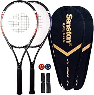 Senston Tennis Racket-27 inch 2 Players Tennis Racket Professional Tennis Racquet,Good Control Grip,Strung with Cover,Tenn...