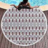 Nazi Mie Árboles del Bosque Árboles de Tela al Aire Libre Cabaña para Acampar F Toalla de Playa - Gran Playa de Terry Roundie Circle Picnic Carpet