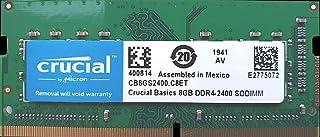 Crucial 8GB RAM DDR4 Laptop SODIMM 2400MHz 260Pin 1.2V - CB8GS2400