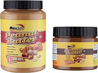 Musclife Peanut Butter Combo (Creamy 1kg & Chocolate 340gm)