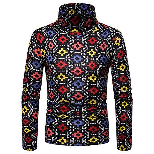 Roiper Pullover Haut Pull à Col Homme Pulls Basique Homme Coton Sweater Col Roulé Chandails Manches Longues Casual Sweatshirt Slim Fit