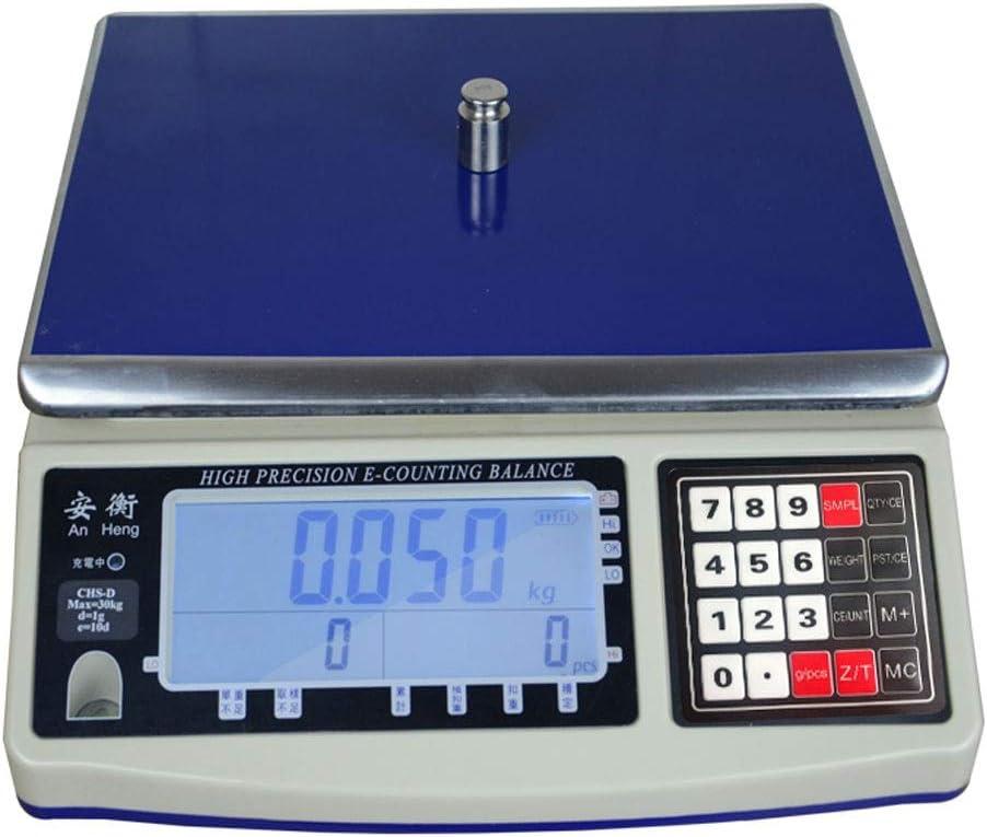 LICHUXIN Oksmsa Digital Balanza Electrónica Produce Contando Peso Balanza De Plataforma 220-110V Voltaje Balanzas Industriales (Color : 25kg/1g)