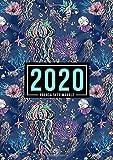 Agenda settimanale 2020: 1 gennaio 2020 al 31 dicembre 2020: Agenda settimanale e mensile, Organizer & Diario: Animali dell'oceano 124-1