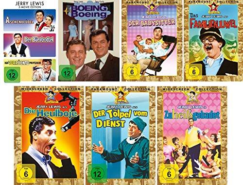 Jerry Lewis - 9 Filme Set (3 Movie Edition: Aschenblödel/Bürotrottel/verrückter Professor + Boing Boing + Babysitter + Familienjuwel + Heulboje + Tölpel vom Dienst + Zu heiß gebadet)