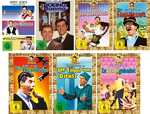 Jerry Lewis - 9 Filme Set (3 Movie Edition: Aschenblödel/Bürotrottel/verrückter Professor + Boing Boing + Babysitter + Familienjuwel + Heulboje + Tölpel vom Dienst + Zu heiß gebadet)