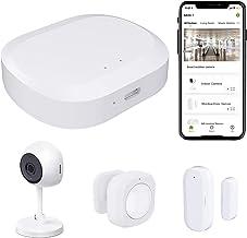 Wireless Home Security JLAZGJ 4- Piece nest Home Security System Home Security kit Wireless Security Alarm System for Hom...