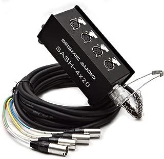 Seismic Audio - SASH-4x20 - 4 Channel XLR Send Sub Snake Cable - 20 Feet