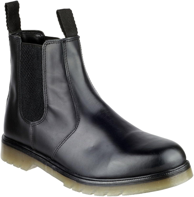 Mens Amblers Black Leather Chelsea Dealer Boots Sizes 7 8 9 10 11 12 13