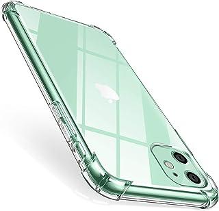ivencase Funda para iPhone 11 Carcasa Transparente Protectora Reforzado Cojín de Esquina Parachoques Case Flexible TPU Suave Anti-Choque Ultra-Delgado Funda para iPhone 11 2019 6.1