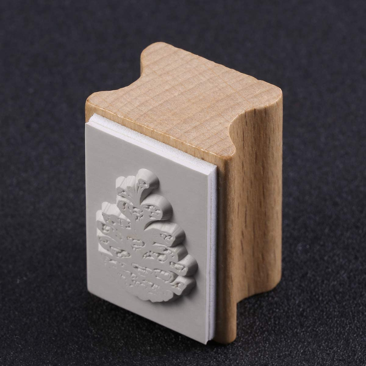 KESYOO Wooden Christmas Stamper Hand Account Diary Stamp Rectangle Wood Stamper Socks Patterns Seal Stamper Socks Supplies