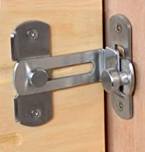 Heavy Padlock Hasp Duty,Door Hasp Latch 90 Degree, Stainless Steel Safety Angle Locking Latch for Push/Sliding/Barn Door