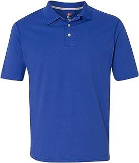 Hanes X-Temp Men`s Sportshirt, 42X0, L, Deep Royal