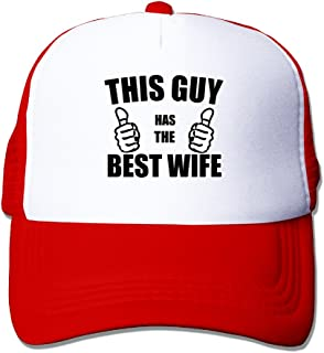P-Jack Adults Unisex Adjustable Original Custom Made Snapback Cap Hat Cotton This Guy Loves His Wife Fitted Hat Black
