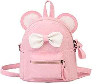 Clearance sale ! Girl Leather School Bag Backpack Satchel Bow Tie Women  Trave Shoulder Bag ❤ dcd8804d1a780