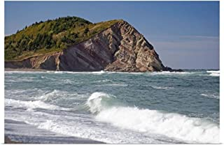 GREATBIGCANVAS Poster Print Entitled Canada, Nova Scotia, Cape Breton, Cabot Trail, Coastline by Patrick J. Wall 18