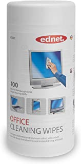 Ednet Antistatic Computer Screen and Monitor Cleaning Wipes - 100 wipes/container