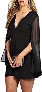 KISSMILK Womens Plus Size Sexy Elegant Sheer Mesh Split Flare Sleeve Dress