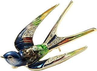 Oce180anYLV Creativo Spilla Pin Moda Donna Smalto Rondine Uccello Collare Spilla Pin Bavero Vestiti Gioielli Decor