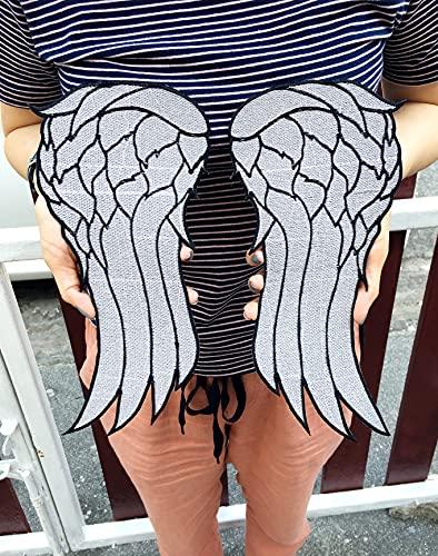 Großer Daryl Dixon Engelsflügel-Aufnäher, inspiriert von Walking Dead, für Kleidung, Zubehör, bestickt, zum Aufnähen oder Aufbügeln