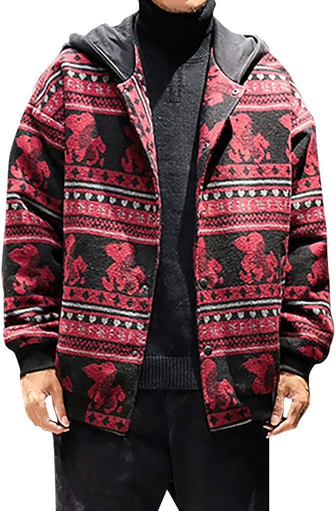 Men's Coats Slim Fit Hooded Trench Coat Elegant Military Windbreaker Classic Parka Jackets Blazer Outerwear with Pocket