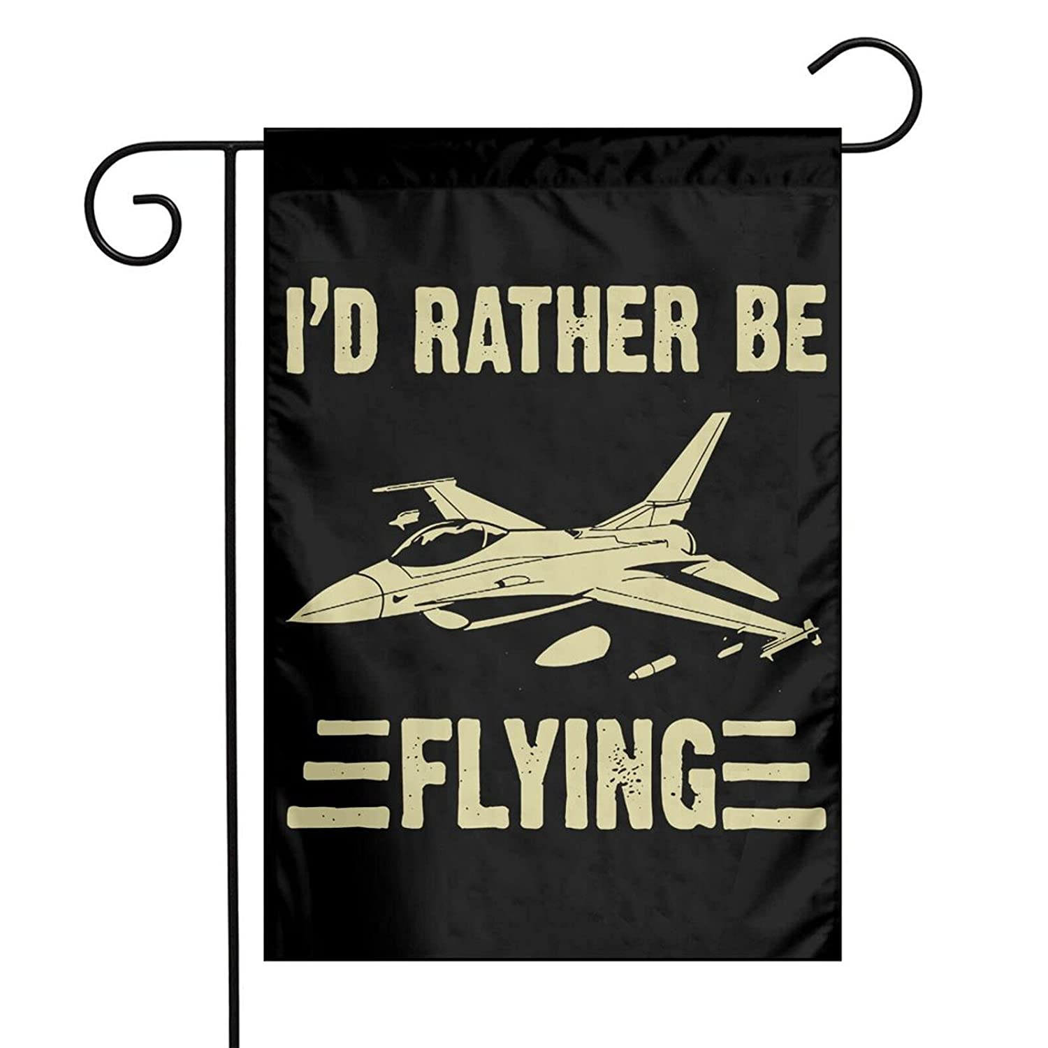 I'D Rather Be Flying Airplane Aviation Garden Flag Double Sided Decorative Garden Flag Yard Flags Banner For Outdoor Indoor Decoration 12 X 18 Inch