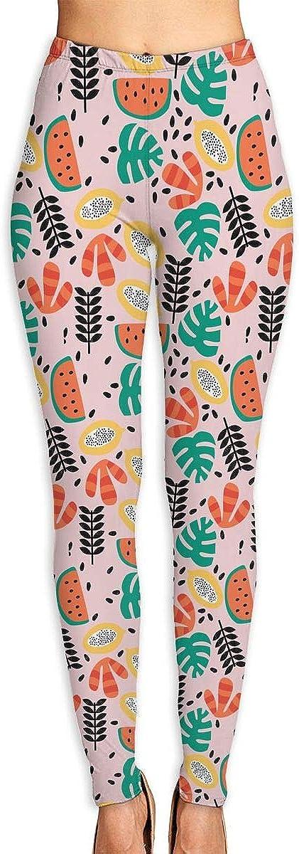 WJM SHOW Tropical Fruits and Plants Omaha Mall Max 65% OFF Pants Gym Swea Yoga Leggings