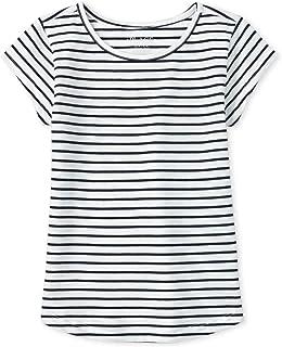 The Children's Place girls Striped Short Sleeve Shirt T-Shirt
