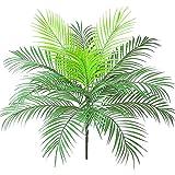 OVBBESS Hoja de Palmera Tropical Artificial Planta de Arbusto en Planta de Palma Verde 15 Hojas para un Arreglo Floral de Acento de Vegetación Tropical
