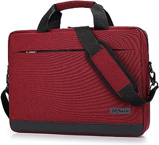 Alfheim - Bolsas para Mensajero y Bandolera para computadora portátil para Hombres y Mujeres,Bolso Tipo maletín Apto para computadora portátil de 14 Pulgadas, para Estudiantes/Negocios/Viajes(Rojo)