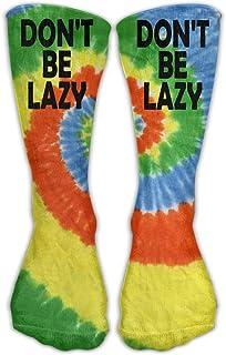 Bigtige, Calcetines clásicos de compresión Don't Be Lazy Tie-dye Sport personalizado Calcetines deportivos de 50cm de largo para hombres y mujeres