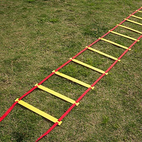 Xin Escalera for Agilidad - 12/06/20 peldaño de la Escalera Escalera Velocidad fútbol Velocidad Agilidad Equipo de Entrenamiento (Size : 3 M 6 Rung)