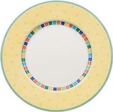 Villeroy & Boch 10-1360-2610 Twist Alea Limone Dinner Plate, 10.5 in, White/Yellow