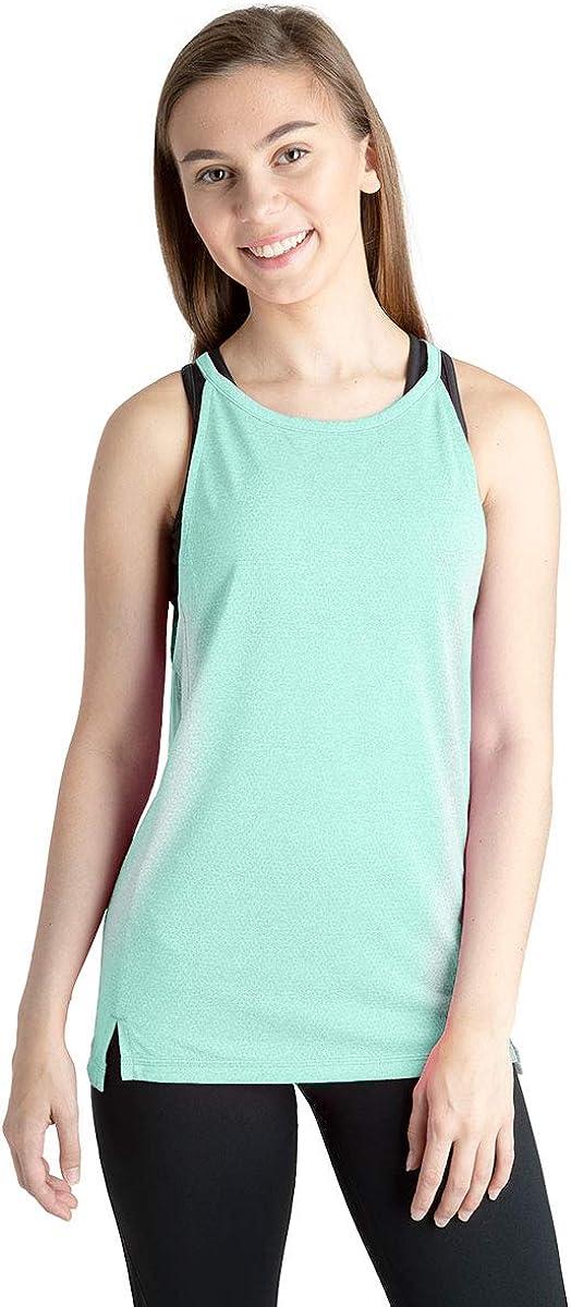 Cheer Dance Gym Everyday! Liakada Ladies Sheer Ether Pullover Cover-Up Mesh Tank Top Aerobics Yoga