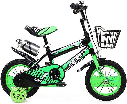 """precioso Axdwfd Axdwfd Axdwfd Infantiles Bicicletas Bicicleta for Niños con Ruedas de Entrenamiento de Boy′s Girl, 12 14 16 18 """"con estabilizadores, Botella de Agua y Soporte.  costo real"""