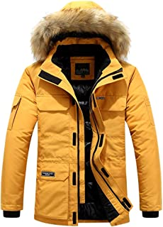 iLOOSKR Winter Warm Hooded Outwear Men's Plus Size Casual Pocket Cotton-Padded Clothes Top Coat
