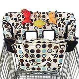 JIAMING Bebé del tamaño Medio del Carrito de Compras Tapa Trona 2-en-1, for los carros de comestibles, Restaurante de Alta Sillas - Soft Seguridad Universal, Carro de Compras - Trona Protector