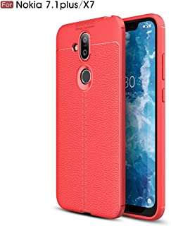 LoveBee アドバンスド Nokia 8.1 Nokia 7.1 Plus (Nokia X7) シェル 〜と Back Shell and Back Shell Interior カバー シェル カバー の Nokia 8.1 Nokia 7.1 Plus (Nokia X7) -Red