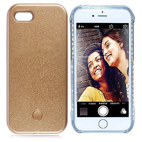 vanjunn iPhone 6Plus 6S Plus Selfie LED Licht Fall–Für Handy mit wiederaufladbaren Backup, Gold