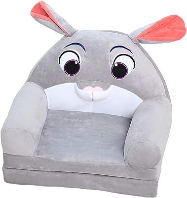 Grey Frjjthchy Kids Armchair Foldable Kids Sofa Plush Cute Children Chair Lazy Sofa for Living Room Kids Room