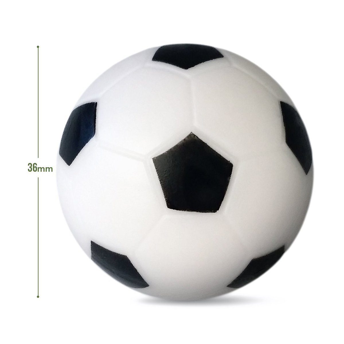 winomo mesa de futbolín Negro/Blanco Mesa Fútbol bolas 36 mm parte ersetzung Tabla tamaño 14pcs: Amazon.es: Deportes y aire libre