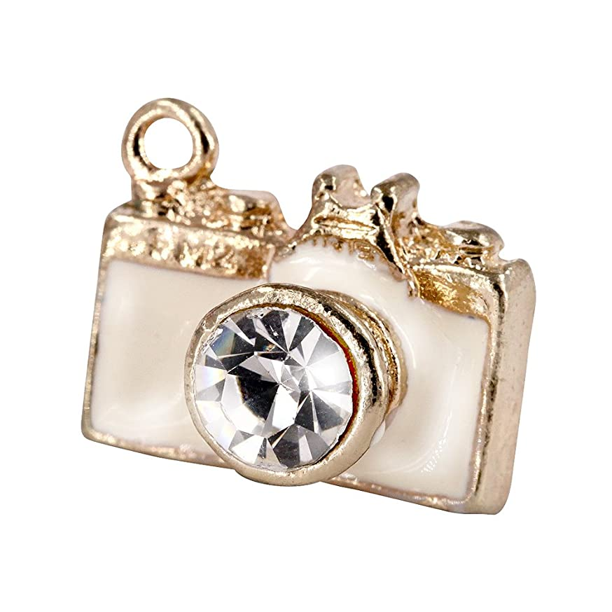 Creative DIY White Camera Charms Pendants Wholesale (Set of 3) MH541