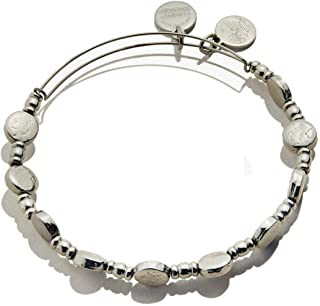 Alex and Ani Coin Charm Bangle Midnight Silver One Size