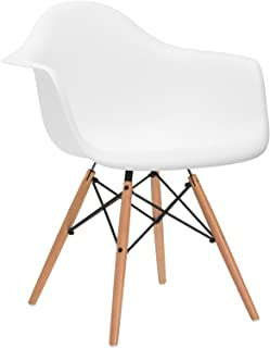 Poly and Bark Vortex Arm Chair, White